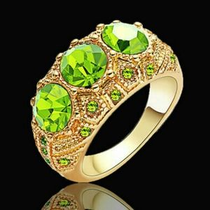 Enchanting‼️18Kt Gold Filled Luxury Emerald Ring